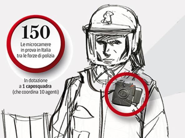 La polizia implementa le telecamere sulla divisa: così registrerà gli scontri