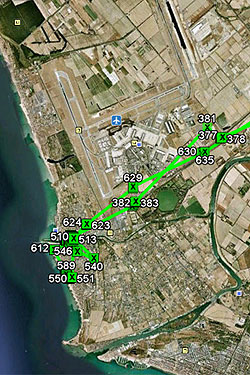 Route from a gps tracker
