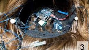 The wig with camera and GPS sensor