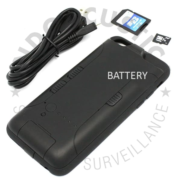 Battery and accessories of spy Iphone case