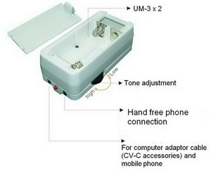 Mobile voice changer's battery housing