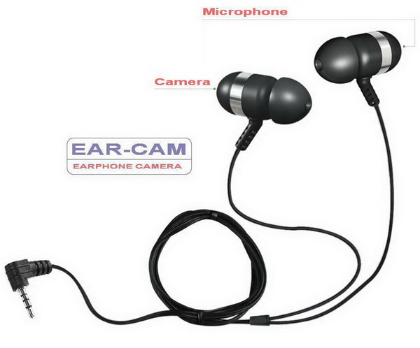 Ear-Cam microphone and camera details