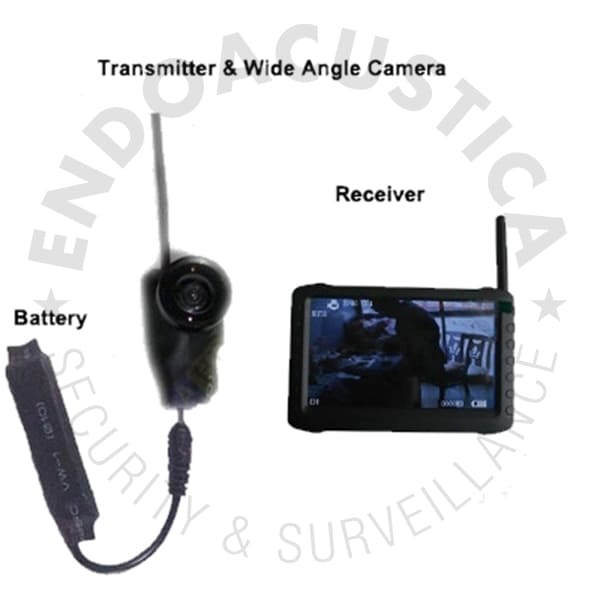 A/V wireless spy camera kit with DVR receiver