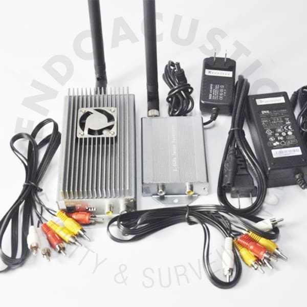 4-channel 2.4GHz @ 10W audio-video transmitter receiver kit