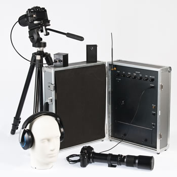 Laser microphone infrared system