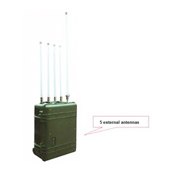 Medium-low power bomb jammer's antennas