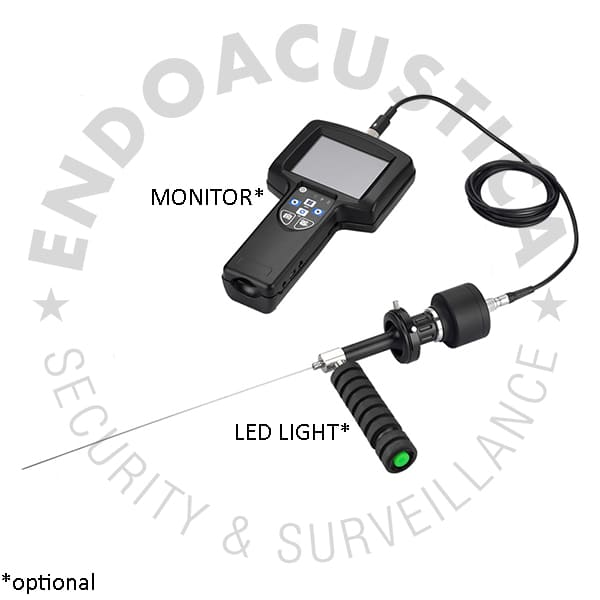 Optional monitor and LEDs of the rigid fiberscope