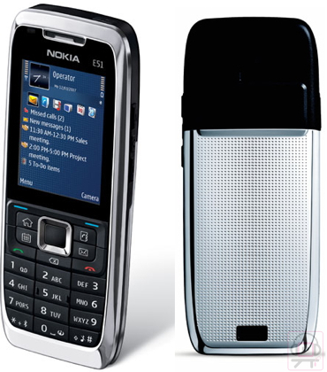 Nokia Spyphone E51 front and back view