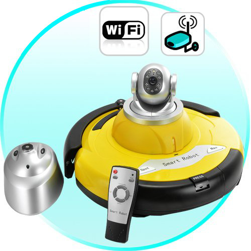 Robot aspirapolvere webcam wireless