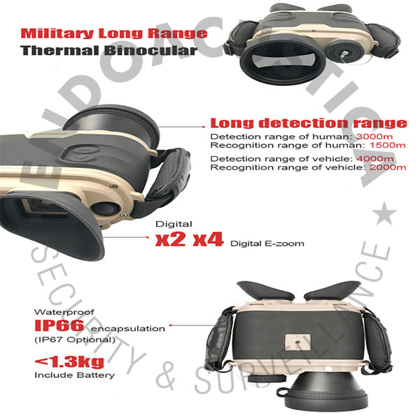 Thermal binoculars with military technology