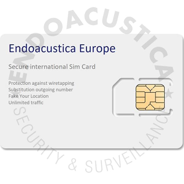 Undetectable non-localizable anonymous SIM card
