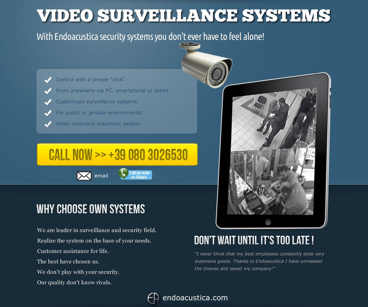 Video surveillance systems installation