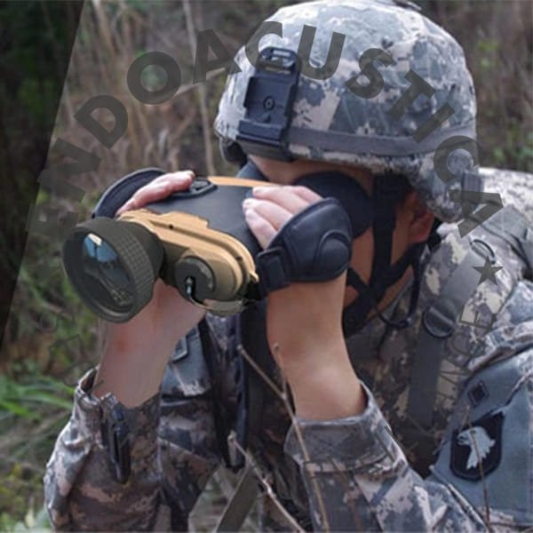 Thermal night vision camera binocular for military